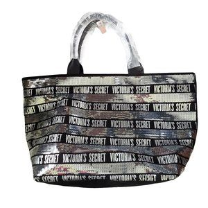 NWT VICTORIA'S SECRET Large Sequined Tote
